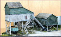 Knightwing Model Railway Plastic Kits - Mine Top Buildings - PM113