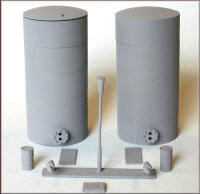 Knightwing Model Railway Plastic Kits - Oil-Liquid / Powder Tanks - PM135