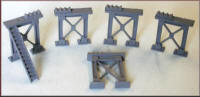 Knightwing Model Railway Plastic Kits - Girder Support Metal - UN7