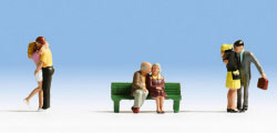 Noch Figures - Courting Couples (3 Couples & Bench) - N15510