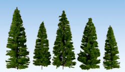 Noch - Profi Trees - Fir Trees Dark Green 7-14cm (40) - N24510