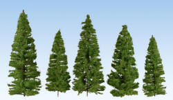 Noch - Profi Trees - Spruces Medium Green 14-20cm (5) - N24521
