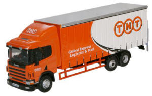 Oxford Diecast Scania 94 6 Wheel Curtainside - TNT - 76S94001