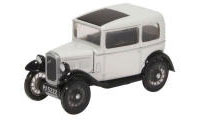 Oxford Diecast Austin Seven Saloon - Light Grey - 76ASS006