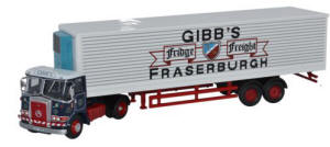 Oxford Diecast Atkinson Borderer 40ft Fridge Trailer Gibbs of Fraserburgh - 76ATK002