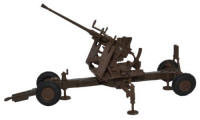 Oxford Diecast Brown 40MM Bofors Gun - 76BF001