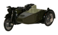 Oxford Diecast BSA Motorcycle and Sidecar - 34th Armoured Brigade 1945 - 76BSA005
