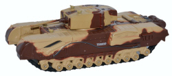 Oxford Diecast Churchill Tank MKIII Kingforce - Major King - 76CHT001