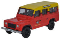 Oxford Diecast Land Rover Defender - Station Wagon London Fire Brigade Station Wagon London Fire Brigade - 76DEF011