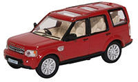 76DIS005 -Oxford Diecast Land Rover Discovery 4 - Firenze Red