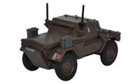 Oxford Diecast Dingo Scout Car 10th Mounted Rifles 10th ACB Polish - 76DSC002