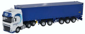Oxford Diecast - Daf XF Euro 6 Combitrailer Container Maritime Transport - 76DXF001