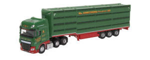 76DXF003 - Oxford Diecast DAF XF Euro 6 Houghton Parkhouse William Armstrong Livestock Trailer