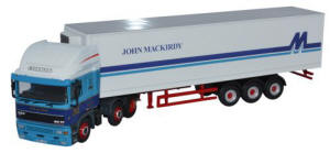 Oxford Diecast ERF EC Olympic 40ft Fridge Trailer - John Mackirdy Ltd - 76EC002
