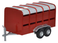 Oxford Diecast - Livestock Trailer - Red - 76FARM004