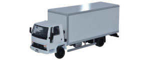 Oxford Diecast Ford Cargo Box Van - White - 76FCG002
