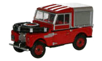 "Oxford Diecast -  Land Rovert Series 1, 88"" Fire Red - 76LAN188012"