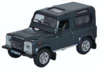 Oxford Diecast Land Rover Defender 90 Station Wagon - Santorini Black - 76LRDF006