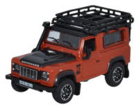 Oxford Diecast Land Rover Defender 90 Station Wagon - Phoenix Orange - 76LRDF008AD