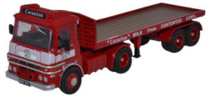 Oxford Diecast ERF LV Flatbed Carnation - 76LV002