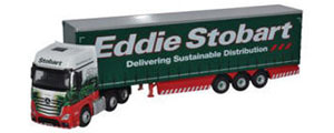 Oxford Diecast Mercedes Actros MP4 GSC Curtainside Eddie Stobart - 76MA001