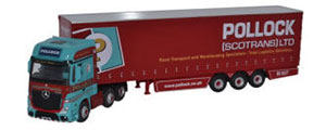 Oxford Diecast Mercedes Actros MP4 GSC Curtainside - Pollock - 76MA002