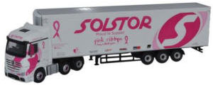 Oxford Diecast Mercedes Actros Solstor (Pink Ribbon Foundation) 76MA005