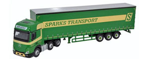 Oxford Diecast - Mercedes Actros GSC Curtainside Sparks Transport - 76MB006