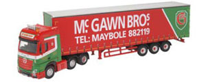 76MB007 - Oxford Diecast Mercedes Actros GSC Curtainside McGawn Bros