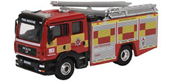 Oxford Diecast MAN Pump Ladder - Hertfordshire  and Rescure - 76MFE005
