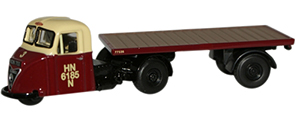 New Modellers Shop - Oxford Diecast - British Rail Scammel Scarab Flatbed - 76RAB006