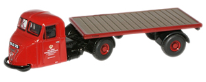 New Modellers Shop - Oxford Diecast - Royal Mail Scammel Scarab Flatbed - 76RAB007