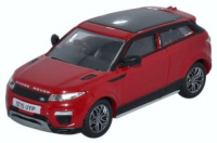 Oxford Diecast Range Rover Evoque - Coupe Facelift Firenze Red - 76RRE001