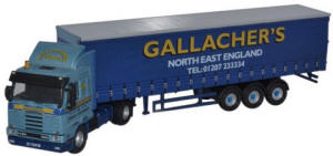Oxford Diecast Scania 113 - 40ft Curtainside Gallacher Bros - 76S143003