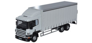 Oxford Diecast Scania 94D Curtainside Lorry - White - 76S94003