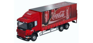 Oxford Diecast Scania 94D Curtainside Lorry in Coca Cola - 76S94004CC