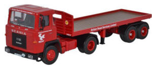 Oxford Diecast - Scania 110 Flatbed BRS - 76SC110002