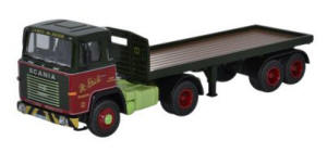 Oxford Diecast - Scania 110 Flatbed - James McBride - 76SC110003