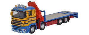 Oxford Diecast Scania Crane Lorry - D R McLeod - 76SCL001