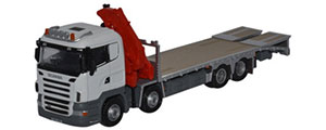 Oxford Diecast Scania Crane Lorry - White - 76SCL002