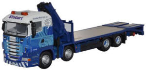 Oxford Diecast Scania Crane Lorry - Stobart Rail - 76SCL003