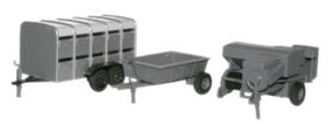 Oxford Diecast - Baler, Livestock and Farm Trailer - 76SET12