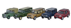 Oxford Diecast - Oxford Diecast Land Rover 5 Piece Set - 76SET32