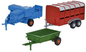 Oxford Diecast - Baler, Livestock and Farm Trailer - 76SET36