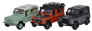 Oxford Diecast Land Rover Defender Heritage Set - 76SET37