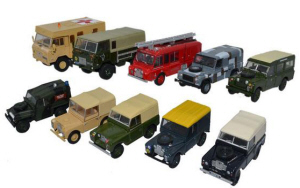 76SET57 - Oxford Diecast 10 Piece Land Rover Military Set