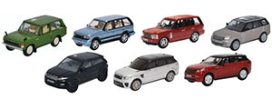 76SET72 - Oxford Diecast - Range Rover Set - 7 Piece Set