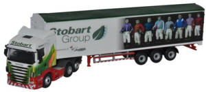 Oxford Diecast Scania Highline Walking Floor - Stobart Jockeys - Ascot Champions Day - 76SHL04WF