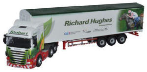 Oxford Diecast Scania Highline Walking Floor - Stobart Jockeys - Richard Hughes - 76SHL05WF