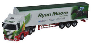 Oxford Diecast Scania Highline Walking Floor - Stobart Jockeys - Ryan Moore - 76SHL08WF